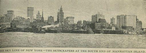 New York City Skyline in 1898